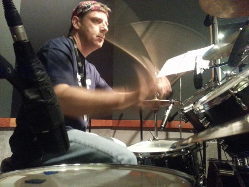Sonny working the kit